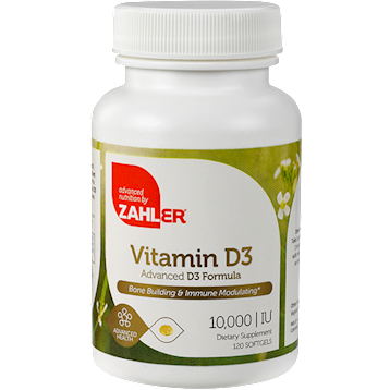 Vitamin D 10,000 IU 120 softgels Advanced Nutrition by Zahler Z00448