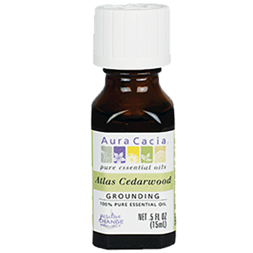 Atlas Cedarwood Essential Oil .5 fl oz Aura Cacia A12192
