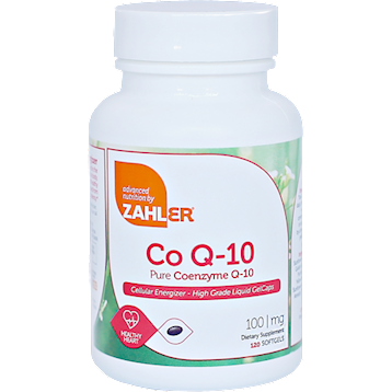 Co Q-10 120 softgels Advanced Nutrition by Zahler Z80679