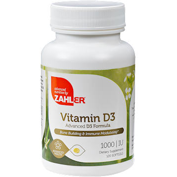 Vitamin D3 1000 IU 120 softgels Advanced Nutrition by Zahler Z80549